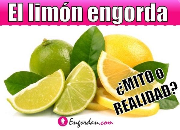 cuantas calorias tiene el limon