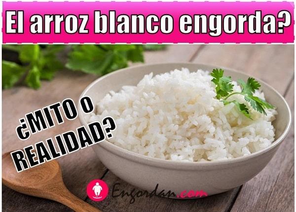 cuantas calorias tiene el arroz blanco