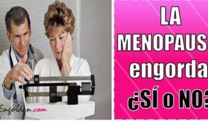 la menopausia engorda